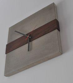 Kitchen Metal Wall Art, Kitchen Wall Clocks, Diy Clock, Clock Decor, Concrete Design, Concrete Wood, Concrete Furniture, Diy Furniture, Giant Wall Clock