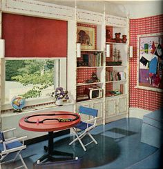 1960s interior house colors | Tour the Crazy-Gorgeous Bedrooms of '60s House Beautiful, Lattice ...