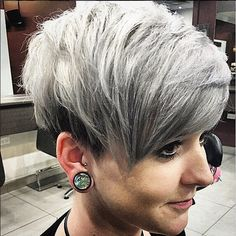 We told you guys that grey was a hot colour for winter hair, here is the proof and the pudding to go with it. Gorgeous grey-blonde tones done by @bec.moses at our #HairbyPhdCarlingford salon! #hairbyphd #carlingford #shorthair #shorthairstyles #silverhair #silvercrop #greydye #greyhair #colouredhair #parramatta #sydney #sydneybeauty #hairdresser #hairstylist #sydneyhair