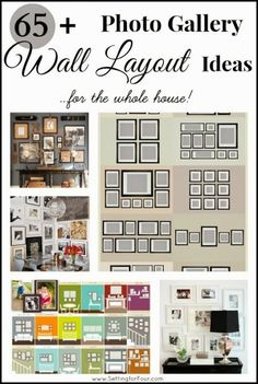 65 plus photo gallery wall layout ideas - easy decor tips to perfectly hang a collection of art, photos and pictures!