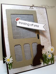 WT422 - Thinking of you Window by StampinAK - Cards and Paper Crafts at Splitcoaststampers
