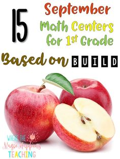 First grade math centers based on BUILD include activities like addition and subtraction scoots, place value, geometry, fact families, interactive notebook pages with CGI word problems, and so much more! These activities are perfect for math workshop and guided math.