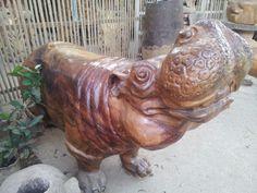 Wood hippo - Bagan - Myanmar