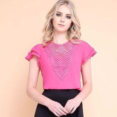 Delicadeza de detalhes que amamos !!!➡️➡️➡️deslize a tela para mais cores !!!!!! #lailak #linda #fashion #shop #blusas #modafeminina