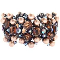 Pearls and chocolate colored diamonds