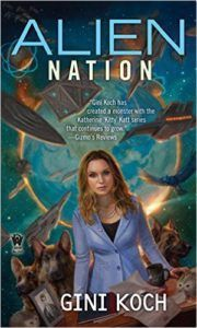 Gini Koch signs Alien Nation.