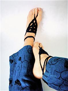 Boho anklets Barefoot sandals crochet Boho Beach by nerina52