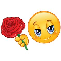 smiley-with-rose.png (400×400)