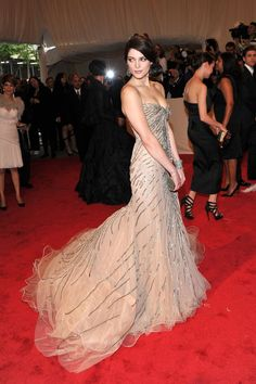 Pin for Later: See 100+ Insanely Gorgeous Looks From Met Galas Past Ashley Greene The actress hit her first Met Gala in style, in a shimmering nude Donna Karan Atelier gown in 2011.
