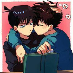 kaito x shinichi Magic Kaito, Detective Conan Ran, Detective Conan Shinichi, Ran And Shinichi, Kudo Shinichi, Kaito Kuroba, Detective Conan Wallpapers, Kaito Kid, Detektif Conan