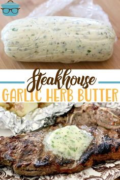 BEST STEAK MARINADE / STEAKHOUSE BUTTER - main dishes Take your steak to another level. A simple, fresh vinaigrette marinade with garlic is all it takes to make a steakhouse-style steak at home! Steak Marinade Recipes, Grilling Recipes, Beef Recipes, Cooking Recipes, Best Marinade For Steak, Marinades For Steak, Ribeye Steak Marinade, Grilled Steak Recipes, Kabob Recipes