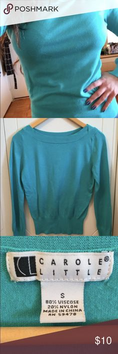 Carole Little Teal Sweater S Light Weight Carole Little Teal Sweater Size Small. Very soft fabric. In good condition. Carole Little Sweaters Crew & Scoop Necks