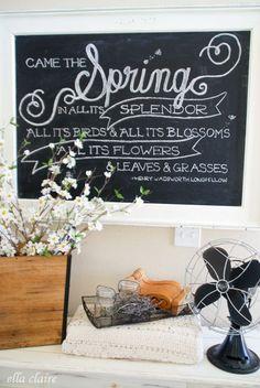Spring Chalkboard Ar