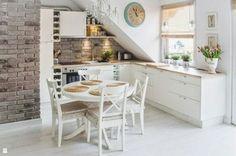 kücheneinrichtung mansarde dachschräge deko ideen küche27