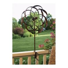 Twin Cat Blue Garden Wind Spinner, Metal Yard Art and Outdoor Décor ...