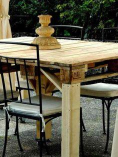table à manger DIY en palettes de bois