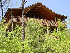 Pigeon Forge, TN: Pigeon Forge chalet rentals: Passion's Peak, Bluff Mountain Cabin 292 is a 1 loft bedroom, 1 full bath chalet located about 5 miles from downtown Pige...