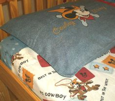 DISNEY MICKEY MOUSE FULL SHEET SET COWBOY-theme BEDDING top fitted pillowcases Where can I find these????? I Need Them!