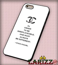 "Choco Chanel Quotes for iPhone 4/4s, iPhone 5/5S/5C/6/6 , Samsung S3/S4/S5, Samsung Note 3/4 Case ""007"""