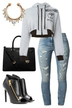 """""""She's Bad """" by kimah101 ❤ liked on Polyvore featuring MICHAEL Michael Kors, Faith Connexion, Moschino and Tom Ford"""