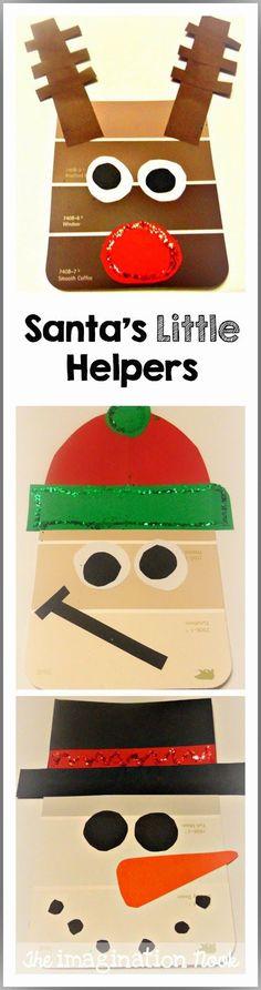 Santa's Helpers - Paint Chip Christmas Craft