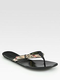One of my favorite shoes Burberry Parsons Flip Flops.