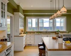 Kitchens With White Cabinets And Green Walls good colors for kitchen walls with oak cupboards | green cabinets