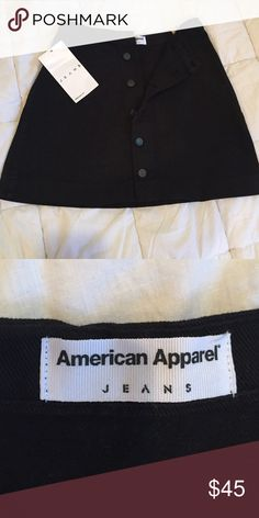 American Apparel black denim skirt Adorable vintage-inspired denim A-line skirt form American Apparel. Never worn, NWT. American Apparel Skirts Mini