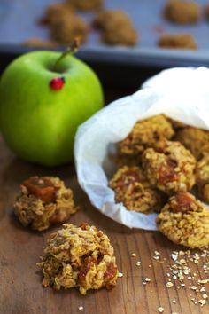 Just My Delicious: Owsiane Ciasteczka z Jabłkami i Krówkami