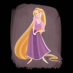 Rapunzel (Drawing by MarcianoIlustrador @Facebook) #Tangled