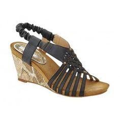 ABSORB-2 Womens Mid-Heels Platforms Wedges - Black