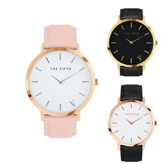 1227c5046af THE FIFTH Watches Ultra Thin Genuine Leather Clock Male Quartz Sport Watch  Men Waterproof Casual Wristwatch