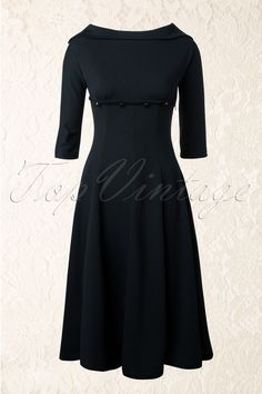 50s Marla Dress in Black