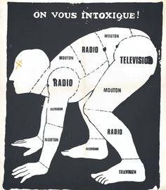 Ephemera - Poster - Paris Student Political On Nous Intoxique 1969