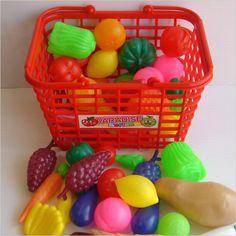 おままごとフルーツ&野菜。昔からあるけど、未だに100均で売ってます。☆The long selling & cheapest play house fruits & veggies, which can still be found in hundred yen shops, Japan.