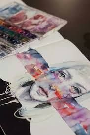 Image result for sketchbook abstract portraits