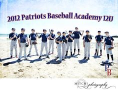 Baseball Team Picture on the Beach