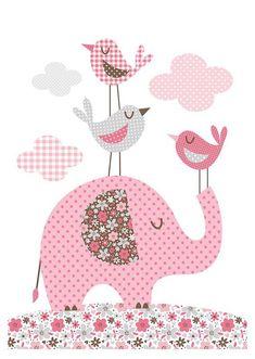 New art quilting ideas patchwork Ideas Applique Patterns, Applique Quilts, Applique Designs, Embroidery Applique, Quilt Patterns, Embroidery Designs, Baby Applique, Elephant Quilt, Elephant Love