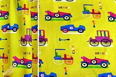 Kinderzimmer Gardine 'Retro Cars' nach Wunschmass