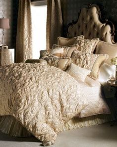 """""""Neutral Modern"""" Bed Linens by Dian Austin Couture Home at Neiman Marcus. by nour14"""