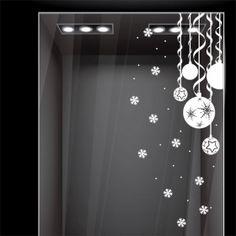 Αυτοκόλλητο τοίχου - βιτρίνας Χριστουγεννιάτικες Μπάλες No2