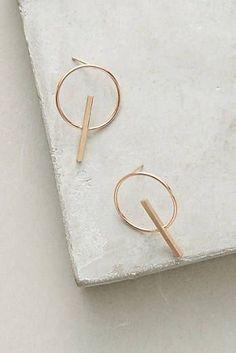Sundial Post Earrings Fashion Necklace, Fashion Rings, Fashion Jewelry, Rose Gold Earrings, Women's Earrings, Tribal Earrings, Jewelry Accessories, Jewelry Design, Korean Accessories