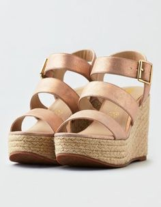 3529fb89f4ac4c BC Footwear Snack Bar Wedge Sandal by American Eagle Outfitters