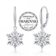Stříbrné náušnice - sněhové vločky s krystaly Swarovski® Swarovski, Engagement Rings, Jewelry, Enagement Rings, Wedding Rings, Jewlery, Jewerly, Schmuck, Jewels