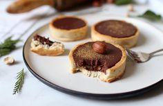 Tartelettes au chocolat, épices, noisettes et érable
