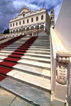 Panagia Evangelistria Church. Tinos town, Tinos island, Greece
