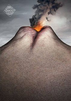 the lips look like a volcano  i thought this was cool because it is a body part looking like something from nature