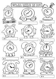 English Exercises: What time is it?