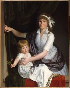 Portrait of a Woman and Child  French Painter, about 1795–98     Medium:      Oil on canvas  Dimensions:      44 1/2 x 35 1/8 in. (113 x 89.2 cm)  Classification:      Paintings  Credit Line:      Purchase, Howard Isermann Gift, in honor of his wife, Betty Isermann, 1983  Accession Number:      1983.264    This artwork is not on display