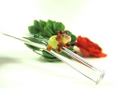 Dandelion on a Clear Glass Drinking Straw- 9 inches- Bent- Dandy Lion Straw by ManyMinis on Etsy Stir Sticks, Glass Company, Dandy, Clear Glass, Dandelion, Drinking, Ethnic Recipes, Etsy